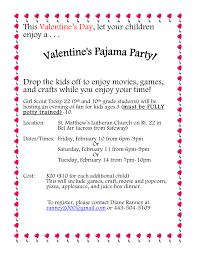 scout troop 22 is hosting valentine u0027s pajama parties for kids
