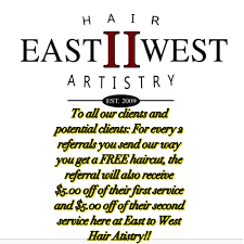 we u0027re always having special deals here at east to west hair