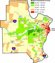 stl metro map census 2000 louis metro region median household income