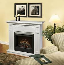 Electric Fireplace White 48 25