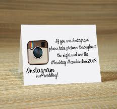 home design hashtags instagram reserved listing for jessica instagram my wedding hashtag cards
