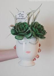 Vase Face Ceramic Feminine Face Vase Floral Containers At Afloral Com
