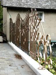 Garden Wall Railings by Lynden Sculpture Garden Bronze Railing Finished Bighorn Forge U0027s