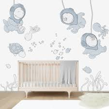 Giant Wall Stickers For Kids Submarine World Wall Decal For Kids Room Bubbles And Bubbles