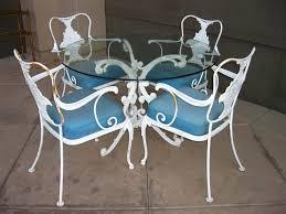 Wrought Iron Patio Furniture Vintage Vintage Wrought Iron Patio Furniture For Sale Home Design Ideas