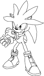 sonic the hedgehog coloring page super sonic coloring page
