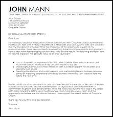 sales analyst cover letter sample livecareer
