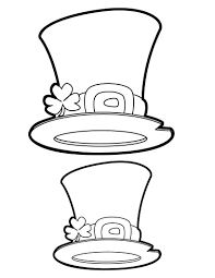 hat coloring pages kids crafts and activities drawing for kids