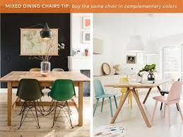 Different Color Dining Room Chairs 10 Style Tips For Pulling A Mix Match Dining Set Apartment