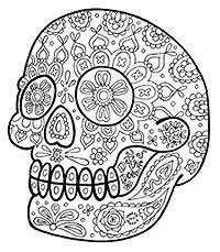 dead los muertos sugar skull coloring pages