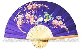 asian fan wall decor painted wall fan asian wall