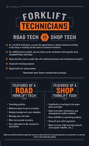 toyota dealer portal forklift technicians road tech vs shop tech infographic toyota