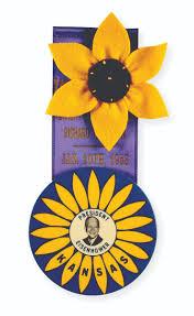 sunflower ribbon caign collectibles kansapedia kansas historical society