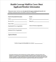 Fax Cover Sheet Template Pdf Cover Sheet Exle Health Coverage Standard Fax Cover Sheet