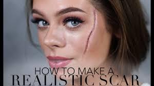 how to make a realistic scar halloween u0026 sfx makeup youtube