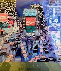 Linnea Pergola Artist by Items Similar To Linnea Pergola Original Hand Signed Times Square