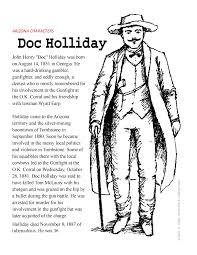 doc holliday coloring page