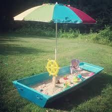 Backyard Sandbox Ideas Diy Sandbox Boat Tutorial Hometalk
