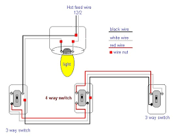 4 way light switch diagram