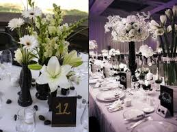 Feather And Flower Centerpieces by 46 Cool Black And White Wedding Centerpieces Happywedd Com