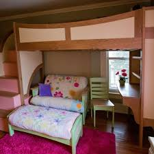 handmade u0027s twin loft bunk bed with stairs futon and desk
