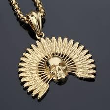 aliexpress buy nyuk new fashion american style gold nyuk new fashion jewelry gold skeleton pendant statement necklace