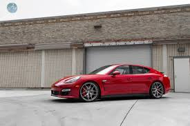 porsche panamera turbo red modulare wheels tunerworks performance porsche panamera turbo