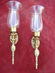 Candle Holder Wall Sconces Sconce Wall Mounted Hurricane Candle Sconce Brass Hurricane