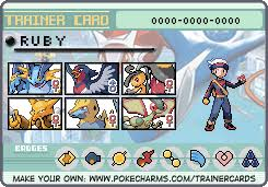 Pokemon Trainer Card Designer Trainer Card Pokemon Ruby By Stella6 On Deviantart