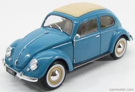 volkswagen beetle blue welly we18040bl scale 1 18 volkswagen beetle classic closed roof