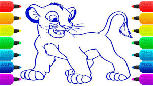 how to draw lion king simba coloring pages for children animal