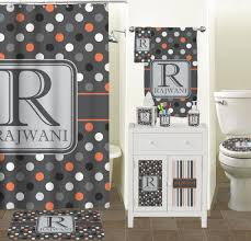 Gray And White Bathroom Accessories by Gray Dots Bathroom Accessories Set Personalized Potty Training