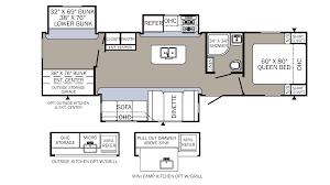 Salem Travel Trailer Floor Plans by 2018 Palomino Puma 32bhks Model