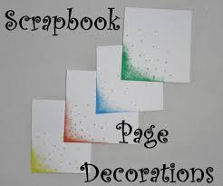 scrapbook page decoration 3 steps