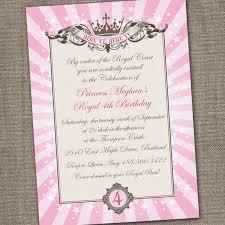 royal princess tiara printable birthday invitation 15 00 via