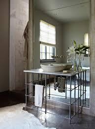 Mirrored Bathrooms Mirrored Bathroom Backsplash Contemporary Bathroom