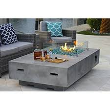 Patio Table With Firepit by Amazon Com Outdoor Greatroom Uptown Gas Fire Pit With 42x12 Inch
