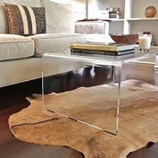 lucite waterfall coffee table acrylic waterfall coffee table new clear rectangular modern tables