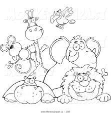 baby zoo animals clipart black and white clipartxtras