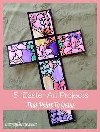 cross centered u0026 meaningful easter art projects u2013 his mercy is new