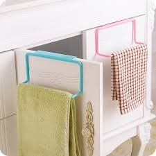 online get cheap kitchen cabinets cleaning aliexpress com towel rack hanging holder organizer bathroom kitchen cabinet cupboard hanger hold towels cleaning rags cocina hanger