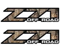 product 2 chevy silverado z71 off road decals realtree ap camo