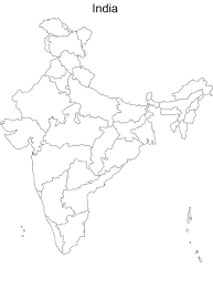 Map Of India With States by Blank Map Of India With 29 States