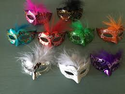 mask decorations 12 mini mardi gras feathered glitter mask party decorations