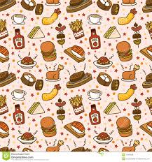seamless pattern food seamless fast food pattern stock vector illustration of cheese