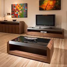 modern walnut coffee table large walnut glass rectangular coffee table modern designer 01a