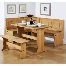 scenic corner dining room table with bench furniture white and