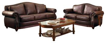Leather Living Room Chair Homelegance Midwood 3 Piece Living Room Set In Dark Brown Leather