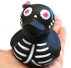 dia de los muertos sugar candy skull rubber ducky black halloween