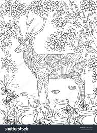 hand drawn animal coloring page stock vector 298186628 shutterstock